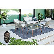Ensemble de meubles de conversation CANVAS Byward, 4 pces