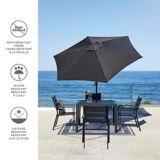 CANVAS Patio Market Umbrella, Black, 9-ft | CANVASnull
