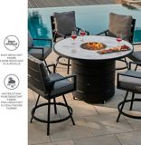 CANVAS Albion Marble Top Fire/Dining Set, 7-pc | CANVASnull