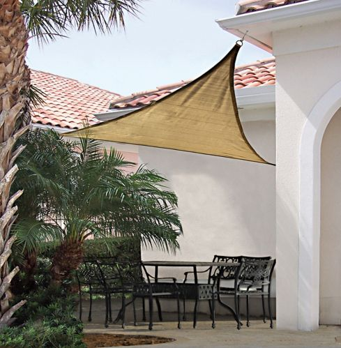 Shelter Logic Triangle Sun Shade Sail, 12-ft Product image
