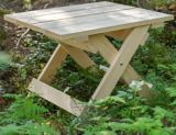 Bear Chair Side Square Table | Adirondack Chairsnull