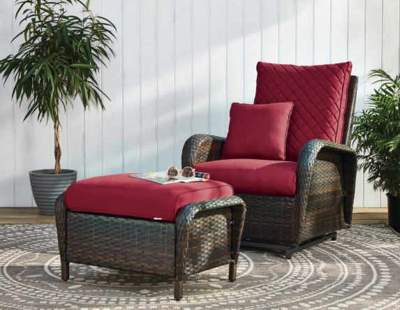 CANVAS Rosedale Recliner & Glider Chair with Ottoman Product image