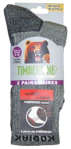 Kodiak Men's Timberline Wool Hiking Socks, Black, 2-pk Product image