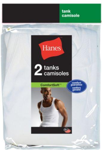 Hanes Mens White Tank Shirt Product image
