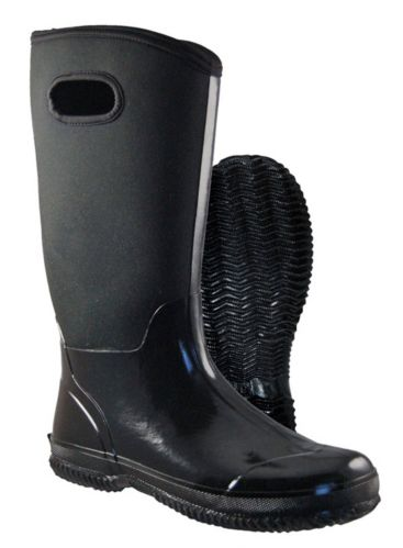Broadstone Women's Glossy Black Neoprene Boot, 14-in Product image