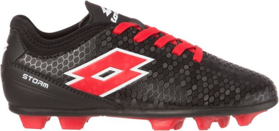 Lotto Storm Kids' Soccer Cleats, Black/Red Product image
