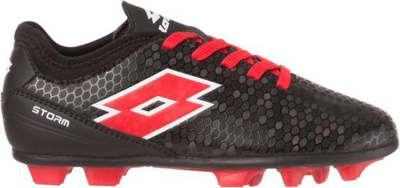 Chaussures à crampons de soccer Lotto Storm, enfants, noir/rouge Image de l'article