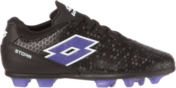 Lotto Storm Kids' Soccer Cleats, Black/Blue Product image
