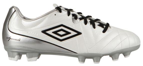 Chaussures à crampons de soccer Umbro Speciali 4 Shield, hommes, blanc, noir et argent Image de l'article