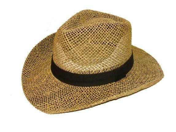Chapeau de paille large bord, homme, havane Image de l'article
