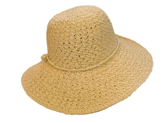 Women's Wide Brim Straw Hat, Natural Product image