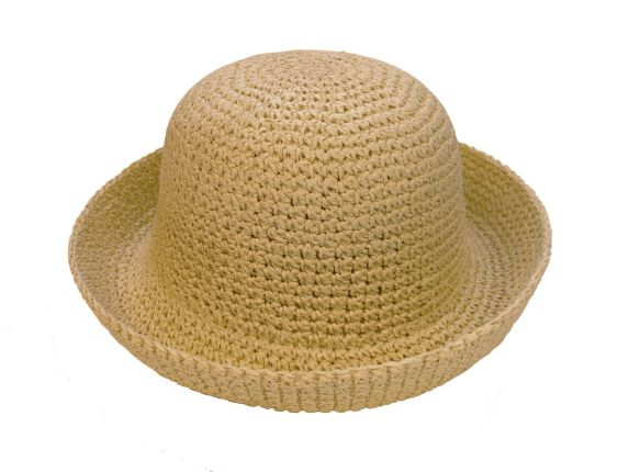 Women's Straw Roller Hat, Natural Product image