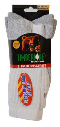 Kodiak Cotton Crew Cut Boot Sock, White Product image