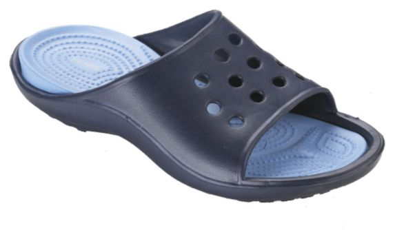 Women's Navy and Light Blue Slide Sandals Product image