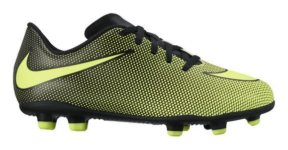 Nike Bravata II FG Soccer Shoes, Junior, Yellow/Black, Product image