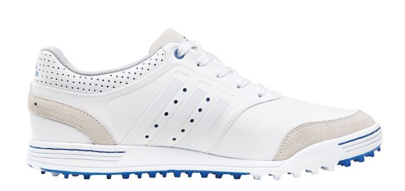 Adicross III Golf Shoes, White/Blue, Men's Product image
