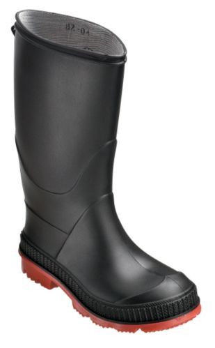 Kids' Lined Rubber Boots, Black Product image