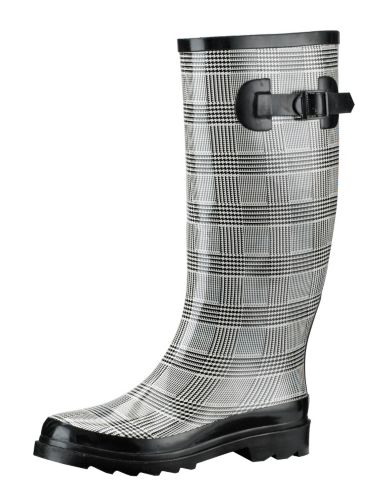 Broadstone Women's Rubber Black and White Boots Product image