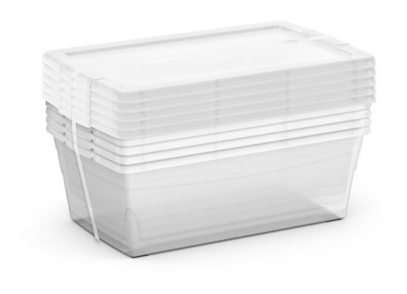 type A Clarity Shoe Box, 6-L, 5-pk Product image