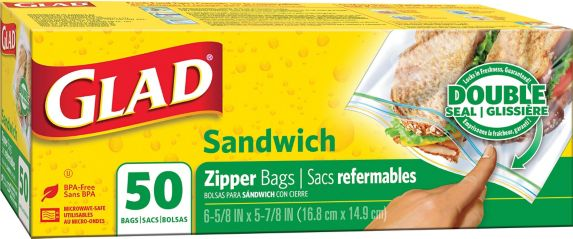 Glad Zipper Sandwich Bags, 50-pk Product image