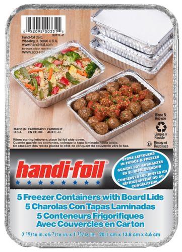 Handi-Foil Freezer Container, 5-pk Product image