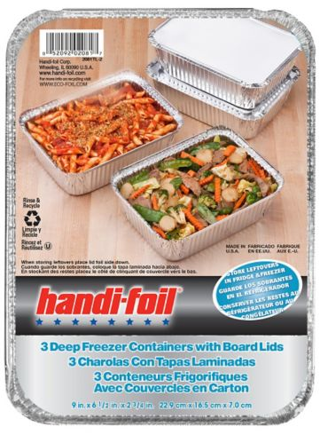 Handi-Foil Deep Freezer Container, 3-pk Product image
