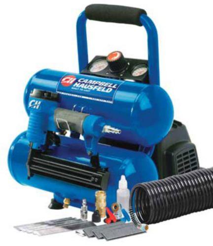 Campbell Hausfeld 2 Gallon Mini Twinstack Air Compressor/Nailer Product image