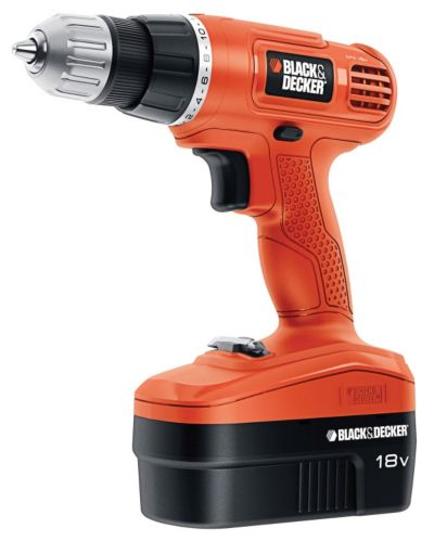 Black & Decker 18V NiCad Cordless Drill/Driver, 3/8-in Product image