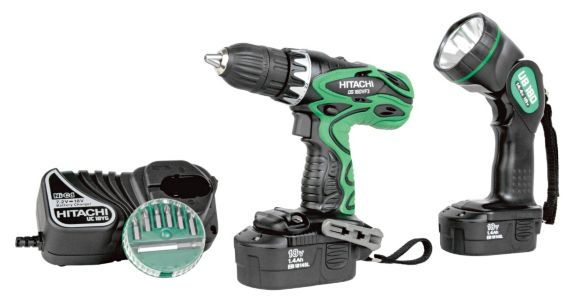 Hitachi Drill Driver with Flashlight, 18V, 1/2-in Product image