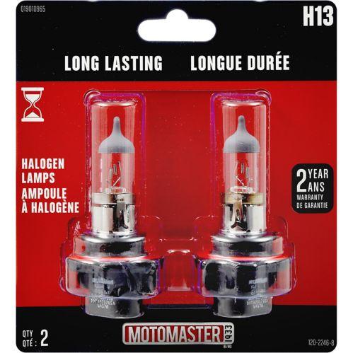 H13 MotoMaster Long Lasting Halogen Bulbs, 2-pk Product image