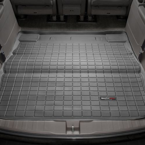 Doublure caisse coffre WeatherTech, arrière 2e rangée, noir, marque de voitures européenne Image de l'article