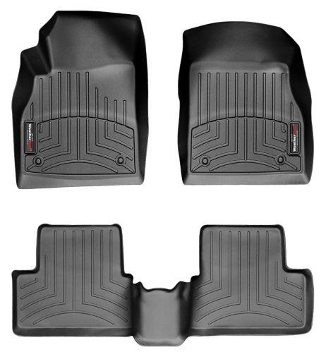 WeatherTech® Custom Front & Rear FloorLiner™ Kit, Black Product image