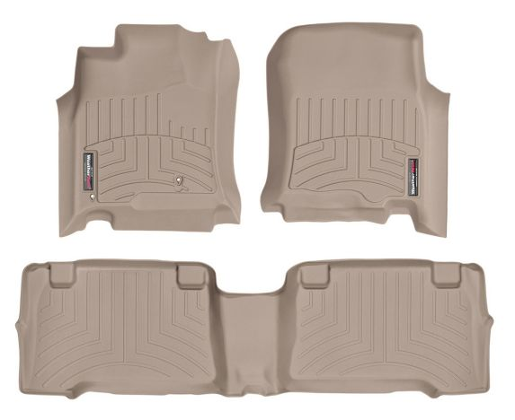WeatherTech® Custom Front and Rear FloorLiner™ Kit, Tan Product image