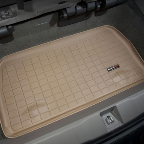 WeatherTech® Custom Cargo Liner, Behind 3rd Row Seating, Tan Product image