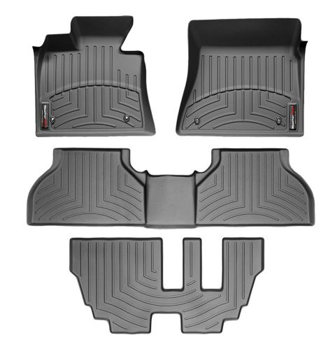 WeatherTech® Custom One-Piece Rear & 3rd Row FloorLiner™ Kit, Black Product image