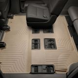 WeatherTech® Custom One Piece Rear & 3rd Row FloorLiner™ Kit, Tan | Weathertechnull