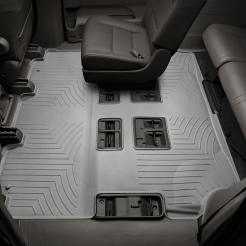 WeatherTech® Custom One Piece Rear & 3rd Row FloorLiner™ Kit, Grey Product image