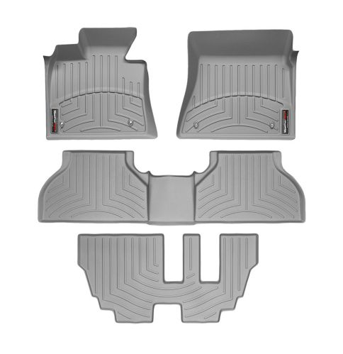 WeatherTech® Custom Front, Rear & 3rd Row FloorLiner™ Kit, Grey