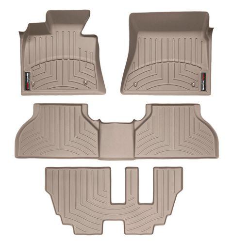 WeatherTech® Custom Front, Rear & 3rd Row FloorLiner™ Kit, Tan Product image