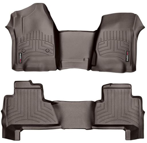 WeatherTech® Custom Front & Rear FloorLiner™ Kit, Cocoa Product image
