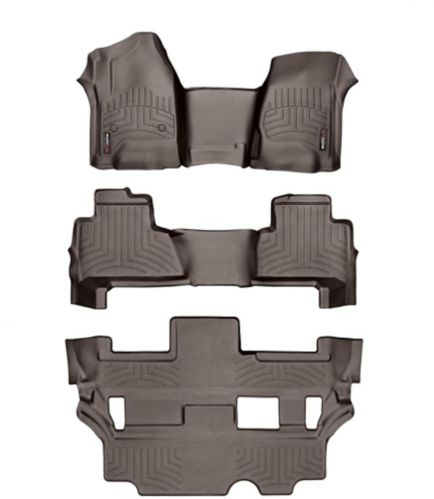WeatherTech® Custom Front Kit, Rear and 3rd Row FloorLiner™, Cocoa