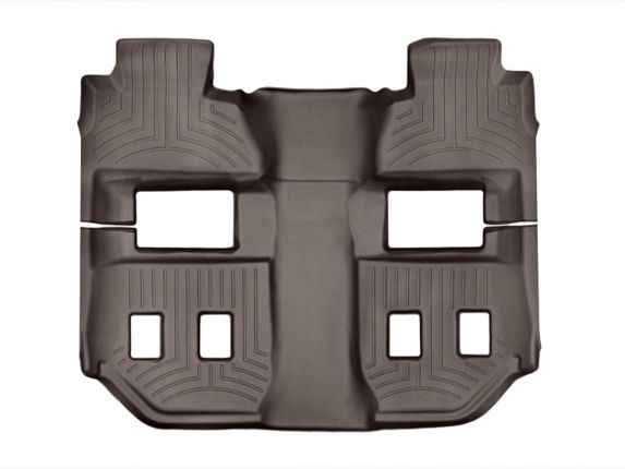 WeatherTech® Custom One Piece Rear and 3rd Row FloorLiner™ Kit, Cocoa Product image
