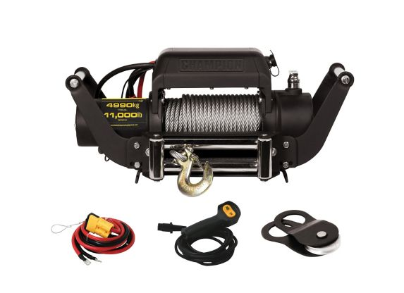 Champion Winch with Speed Mount, 11,000-lb