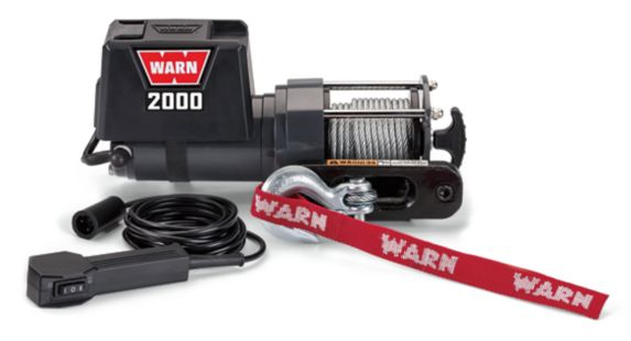 Warn DC 12V Electric Winch, 2,000-lb Product image
