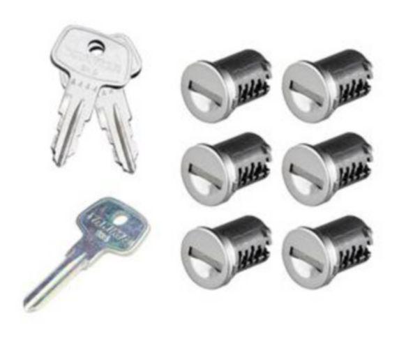 Yakima Same Key System Locking Cores, 6-pk