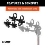 CURT Extendable Hitch-Mounted Bike Rack, 2-Bike or 4-Bike | CURTnull
