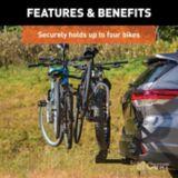 CURT Premium Hitch-Mounted Bike Rack (4-Bike, 2-in Shank) | CURTnull