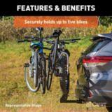 CURT Premium Hitch-Mounted Bike Rack (5-Bike, 2-in Shank) | CURTnull