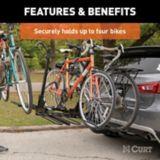 Porte-vélos d'attelage style plateau CURT (4 vélos, tige 2 po) | CURTnull