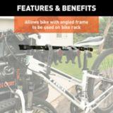 Adaptateur de vélo réglable pour cadres inclinés CURT, 22-1/2 à 31 po | CURTnull